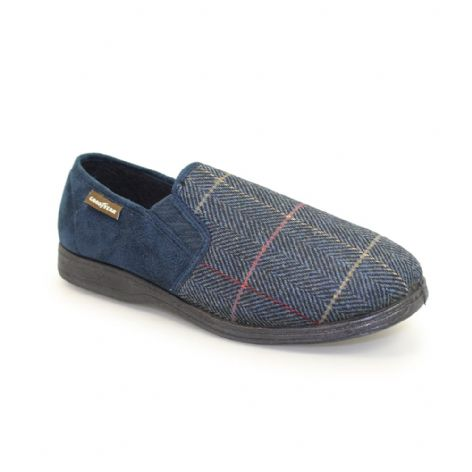Goodyear Mens Harrison Blue Slippers